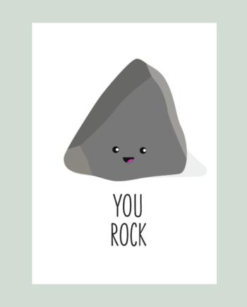 You rock ansichtkaart
