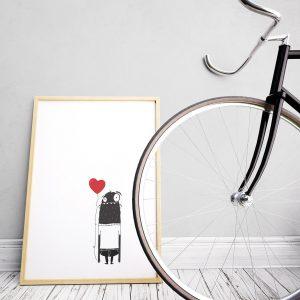 Poster valentijn liefde