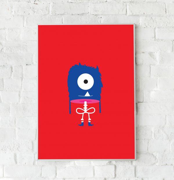 Skelet monster poster