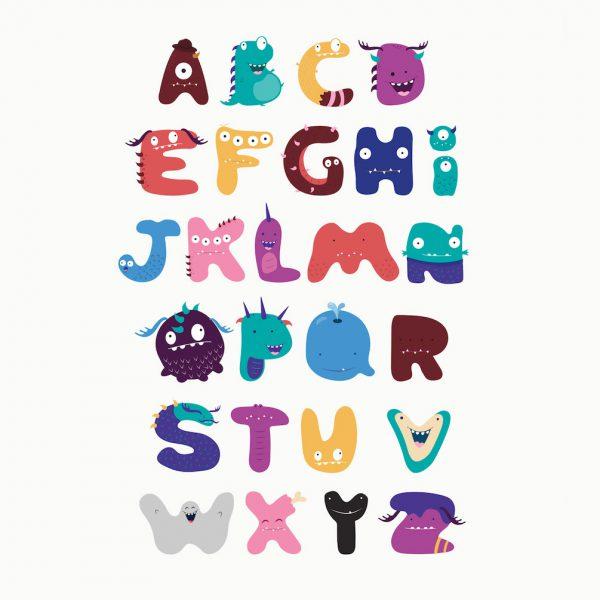 Kinderposter alfabet