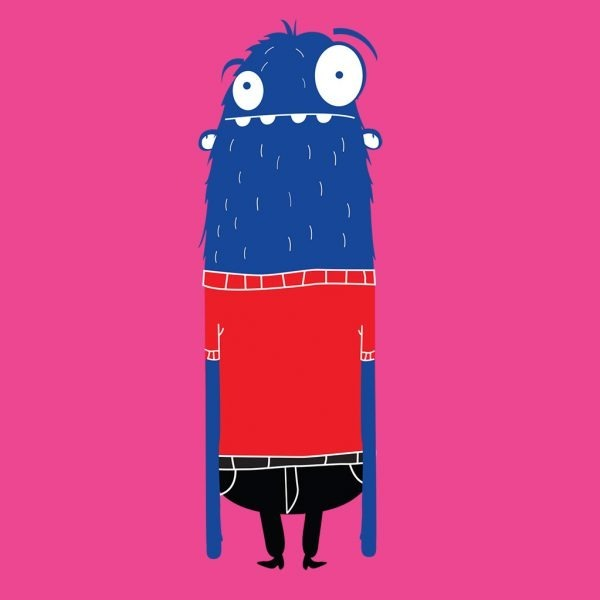 Lang monster roze poster