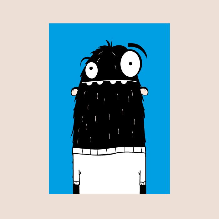 postkaart monster