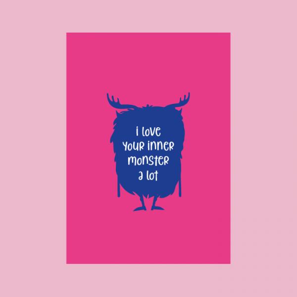 postkaart liefde monster