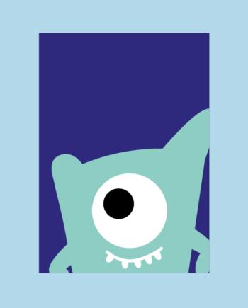 postkaart monster logo