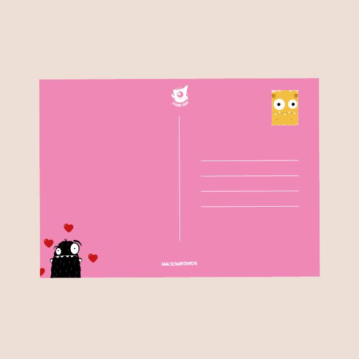 monster postkaart