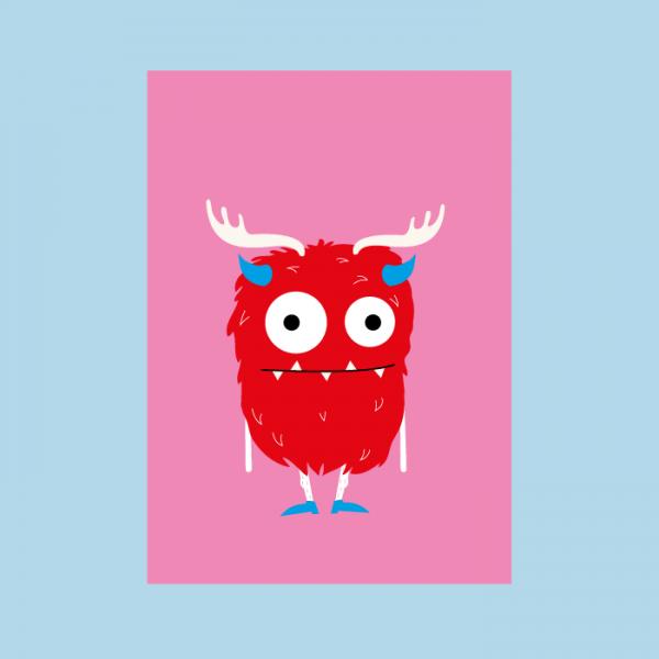 monsterkaart rood monster