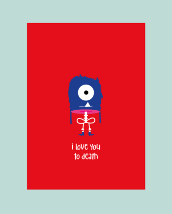 ansichtkaart love you to death