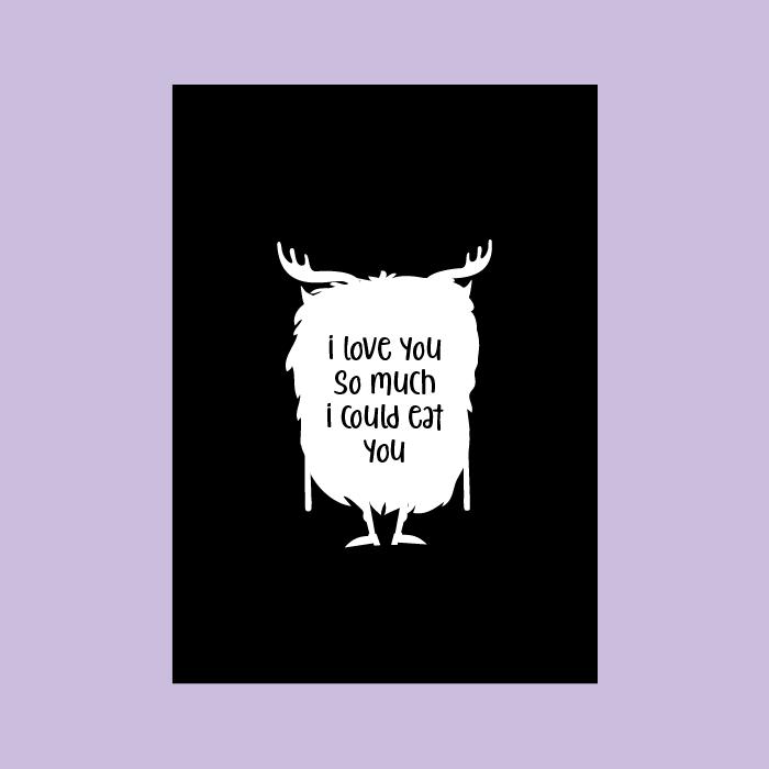 monsterkaart wit monster