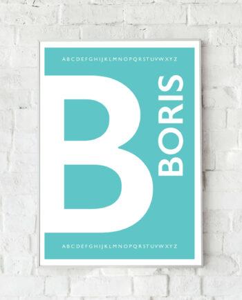 Geboorteposter Boris