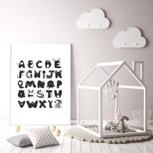 ABC poster kinderkamer