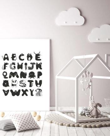 ABC poster kinderkamer