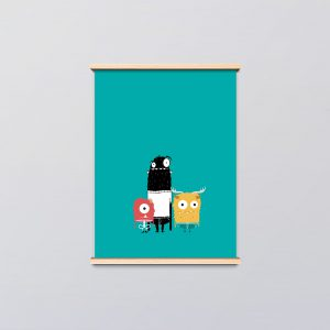 kinderkamer poster monsters