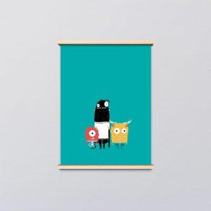 kinderkamer poster monsters