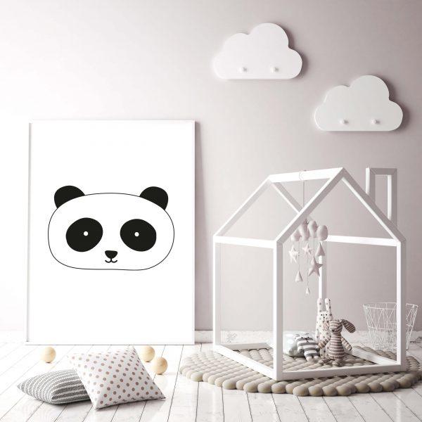 zwart/wit poster panda