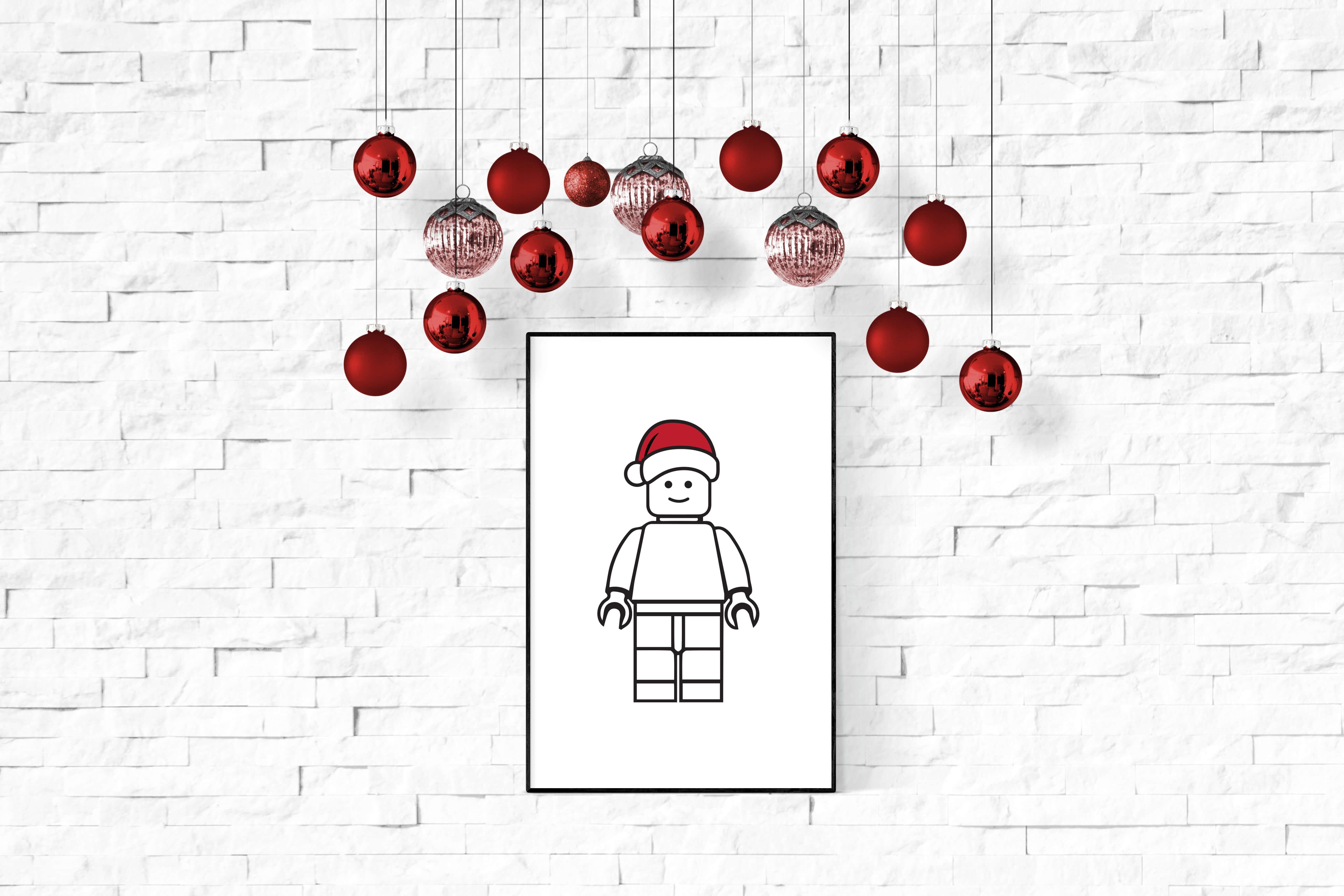 Lego poster kerst