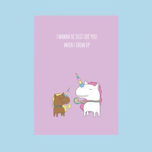 eenhoorn unicorn wenskaart