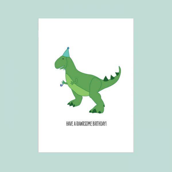 dino kaart birthday