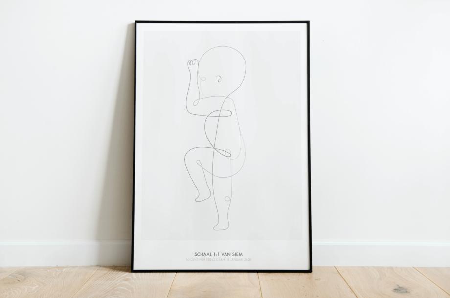 baby geboorte poster 1:1