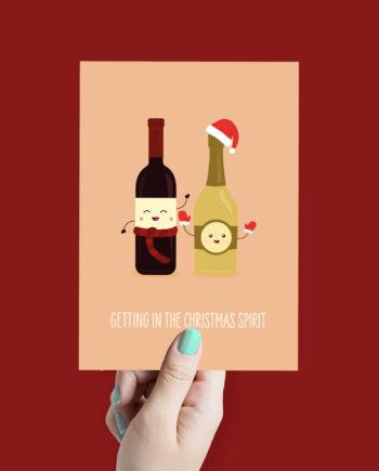 drank kerstkaart